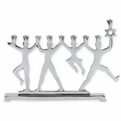 Silver Plated Menorah