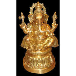 Ganesh Sitting On Oval Base