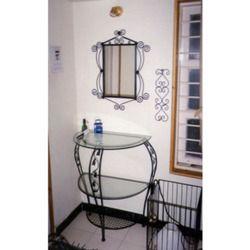 Wrought Iron Fabricated Bedroom Mirror Set
