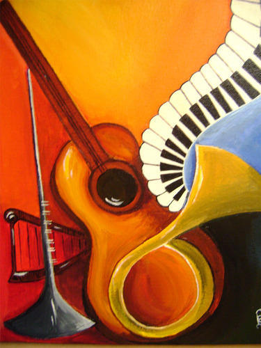 Musical Instruments Paintings, Paintings | Hyderguda ...