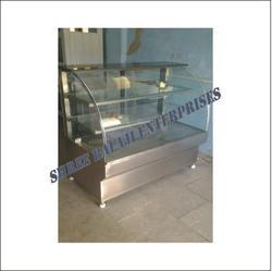 Pastry Counter Round Glass Display
