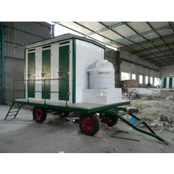 mobile toilet for site office