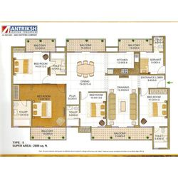 Four Bedroom Flats in Sector 77 Noida