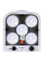 AirNet 5 LED Emergency Light with FM