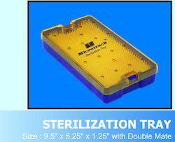 Big Plastic Sterilization Tray with Double Silicon Pin Mat