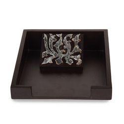 Silver Flower Napkin Tray