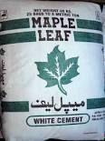 white cement maple leaf brand