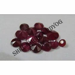 Ruby Diamond Cut Round Stone