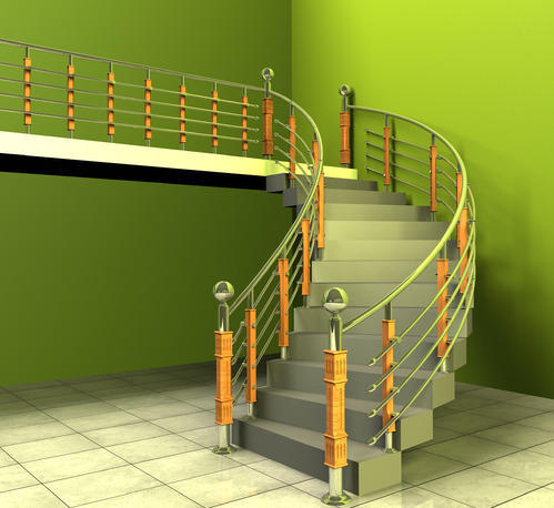 Stainless Steel Staircase with Teak Wood S 7 & charupadi Wholesaler ...
