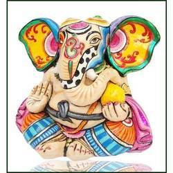 Coloured Ganesh Statue
