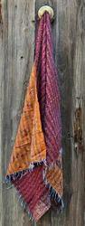 Indian Handmade Vintage  Silk Scarf