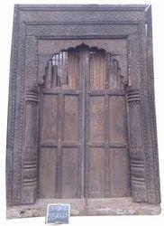Old Carved Front Door