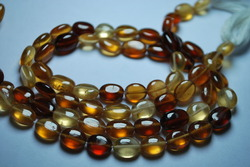 Hessunite Garnet Smooth Oval Nuggets Strand 14 inches