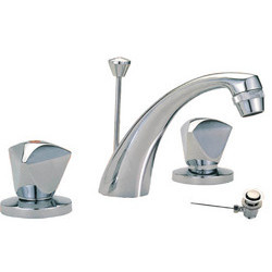 Three Hole Washbasin Mixer With Pop Up Waste A015
