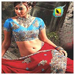 Stone Studded Sarees With Blouse