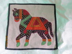 Horse Patch Work Cushion