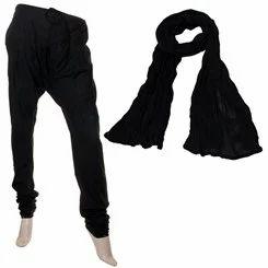 Black Colour Chudi Bottom & Cotton Dupatta