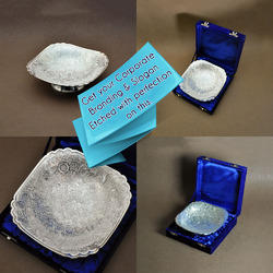 Silver Plated  Serving Bowl And Tray