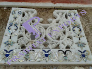 Marble Jali with Mother Of Pearl Inlay Work