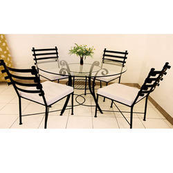 Wrought Iron Powder Coated Dinning Room Set
