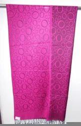 Pink Designer Woven Stoles