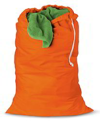 Orange Color Drawstring Bag
