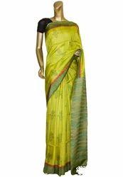 Light Green Colour Tussar Saree
