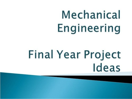thesis proposal for mechanical engineering students