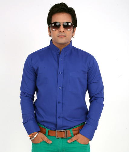 Formal Full Sleeves Solid Dyed Gents Shirts