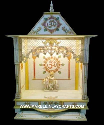 Home mandir decoration my web value for Marble temple designs for home