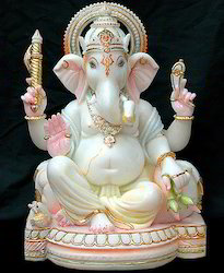 Ganesha In Marble Statue