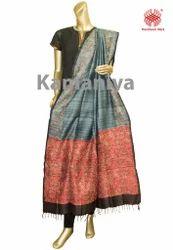Kantha Stitched Silk Dupatta