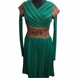 Green+Indo+Western+Dress