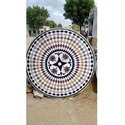 Wheel Chakra In White Stone Table Tops