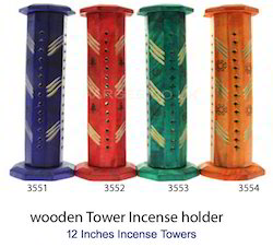 Colored Wooden Incense Towers