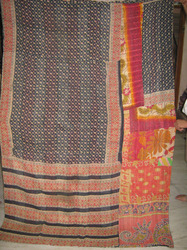 indian vintage cotton sari kantha quilts
