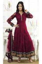 Adorable Brick Red Salwar Kameez