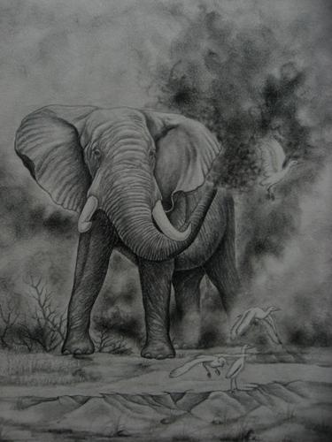 pencil and charcoal paintings