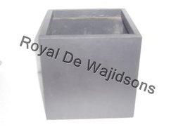 Antique Square Planter Leather Cube