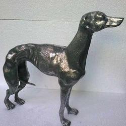 Aluminum Greyhound Dog Statue