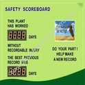 Safety Scoreboard Display