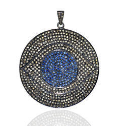 spiritual diamond evil eye pendant