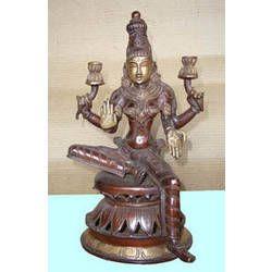 Laxmi Sitting On Double Lotus Base