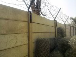 Prestressed Boundary Walls