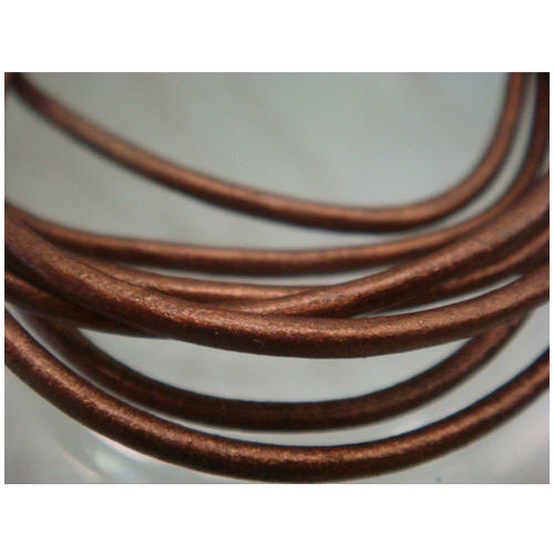 Copper Color Round Leather Cords