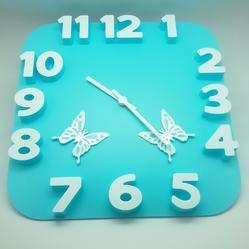 3d Clock with Butterfly