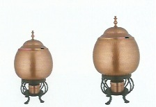 Burnt Copper Finished Soup Warmers