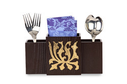 Flower Gold Cutlery Holder