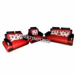 Head Rest Box Sofa Set - Fabric
