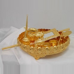 Gold Plated Pooja Set Big